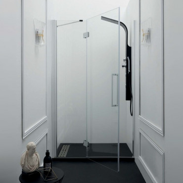 Niche shower enclosure with hinged door TEPB43 Colacril