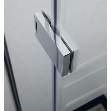 Corner shower enclosure with hinged door TEPB43 Colacril