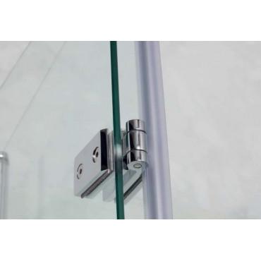 Corner shower enclosure with double folding door TPS35 Colacril