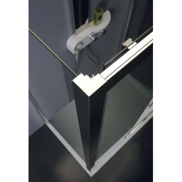 Corner shower enclosure with sliding door TPSC55 Colacril