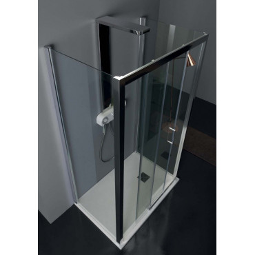 Center wall shower enclosure with sliding door TPSC55 Colacril