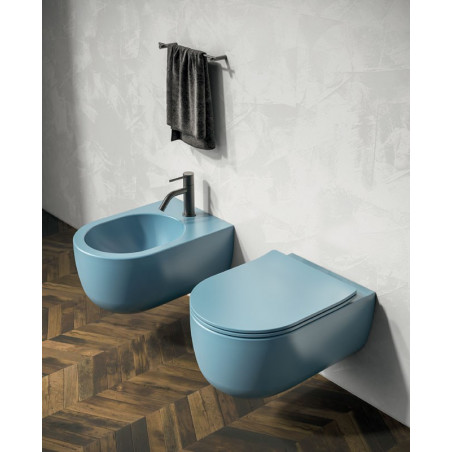 Milady Olympia Ceramica colored suspended sanitary ware