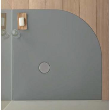 Receveur de douche d'angle semi-circulaire en acrylique H3 Colacril