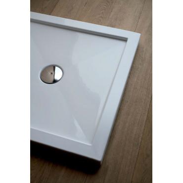 Receveur de douche carré en acrylique H5 avec bord en Colacril