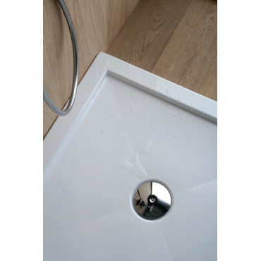 Square acrylic shower tray H5 with Colacril edge