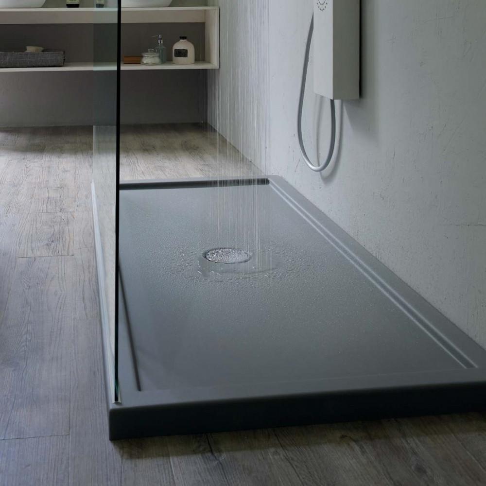 Piatto doccia rettangolare in acrilico 70 H5 con bordo Colacril