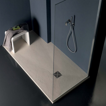Rectangular stone effect shower tray in resin 70 Flat Colacril