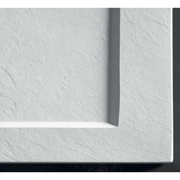 Receveur de douche effet pierre en résine plate 70 avec bord en Colacril