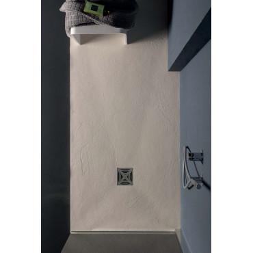 Piatto doccia 80 rettangolare in resina effetto pietra Flat Colacril