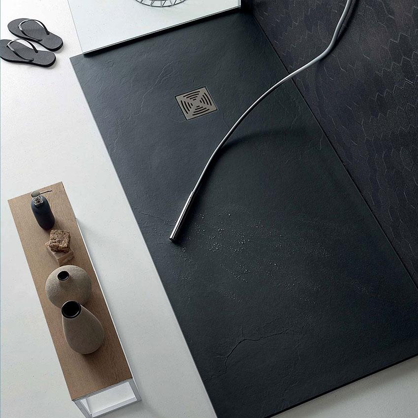 Piatto doccia rettangolare in marmoresina lato 900 Flat Colacril