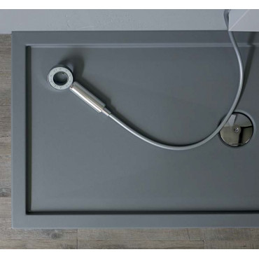 Rectangular shower tray 80 in acrylic H5 with Colacril edge