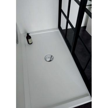Receveur de douche rectangulaire 80 en acrylique H5 avec bord en Colacril