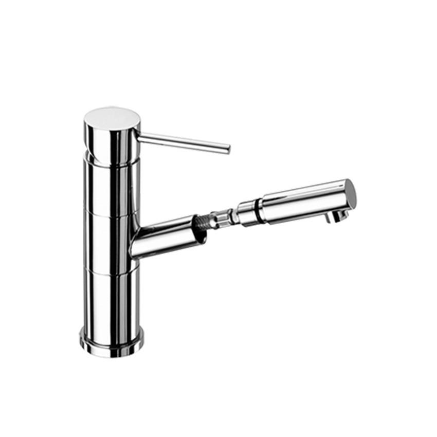 miscelatore lavabo bagno con doccetta estraibile Gaboli Flli Rubinetteria