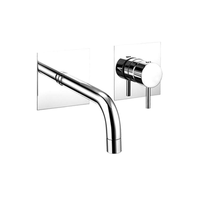 Miscelatore per lavabo ad incasso con bocca a parete Simply 2670