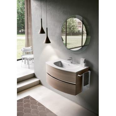 meubles de salle de bain suspendus courbés salles de bains bmt lune