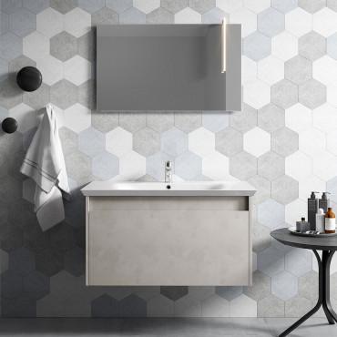 Mueble de baño suspendido moderno - Mueble lavabo Mars 03