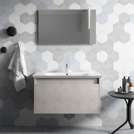 Meuble de salle de bain suspendu moderne - meuble vasque Mars 03