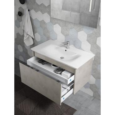 Meuble de salle de bain moderne suspendu 70 cm ou 90 cm BMT Mars 03