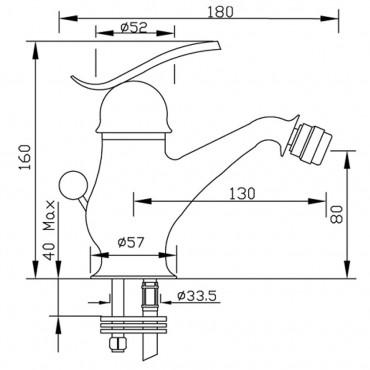 scheda tecnica rubinetti bidet Teoria