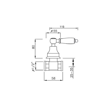 rubinetto doccia antichizzato Gaboli Flli rubinetteria