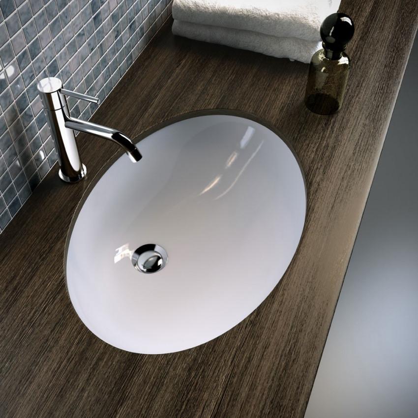 Lavabo incasso sottopiano ovale 57 Olympia Ceramica