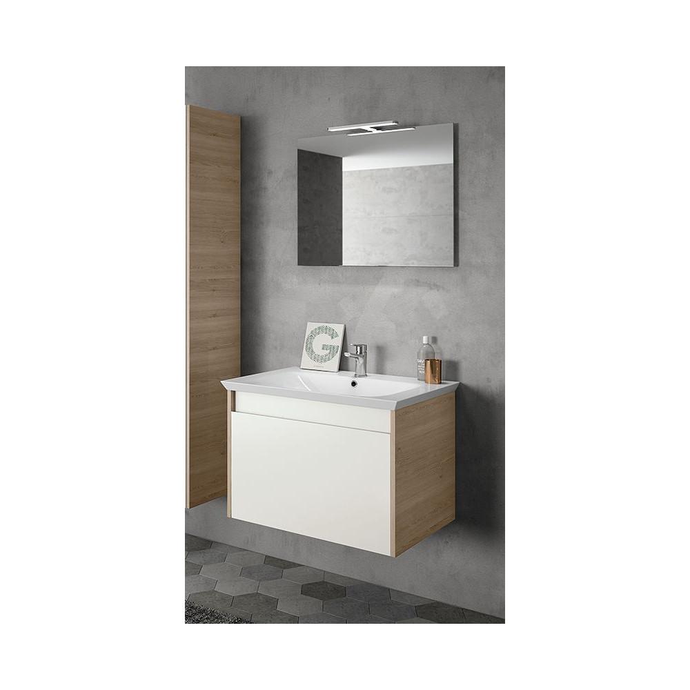 Mobile Sotto Mensola Bagno mobile bagno moderno sospeso legno bianco 70 cm bmt mars 02