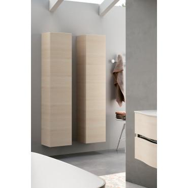 Colonna per bagno sospesa color legno chiaro BMT Moon 08