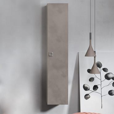 Colonna per bagno sospesa grigia design moderno BMT Jupiter