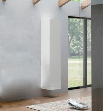 Colonne de salle de bain suspendue moderne en blanc 170 cm BMT Moon