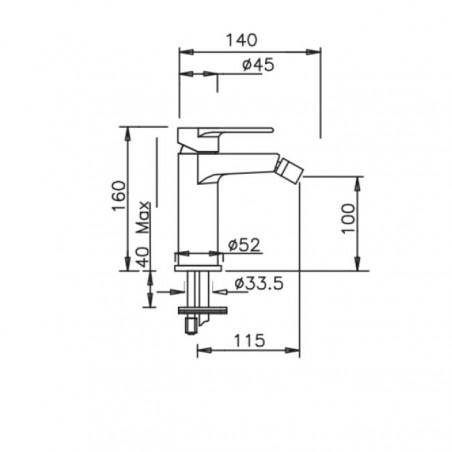 Bidetarmatur Design Kyro 3706 Gaboli Flli Rubinetteria