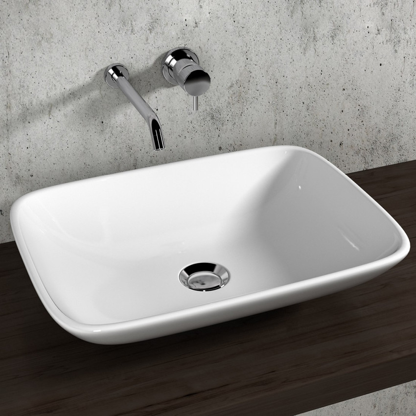 Olympia Ceramica rectangular countertop washbasins