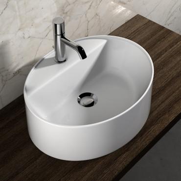 Olympia ceramica oval countertop washbasin