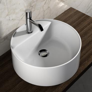 Vasque à poser rond en céramique Olympia