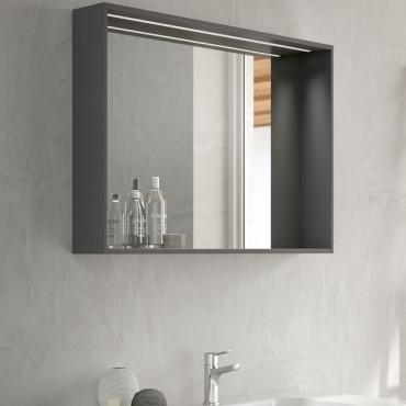 miroir de salle de bain avec meuble de salle de bain bmt lune 12