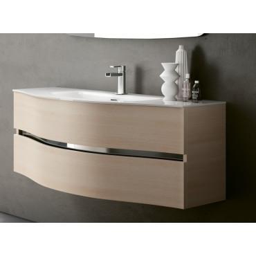 meuble de salle de bain suspendu courbé Moon Bmt Bagni