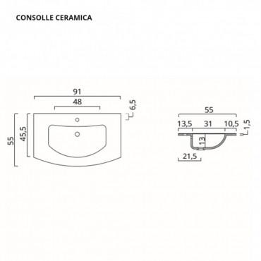 meuble de salle de bain courbe mesure lune salles de bains BMT