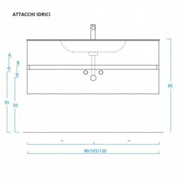 Plan de montage armoire de salle de bain suspendue MOON BMT