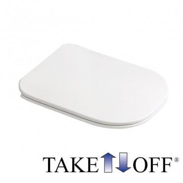 asiento de inodoro delgado de liberación rápida Tutto Evo Olympia Ceramica
