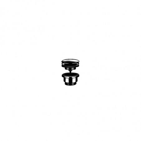 Piletta click-clack lavabo nera universale Gaboli Flli Rubinetteria