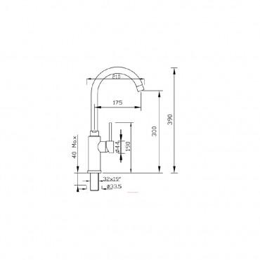 Miscelatore cucina acciaio inox o cromo 4101 Gaboli Flli