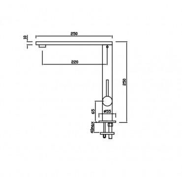 Robinet pour évier de cuisine design moderne 4112 Gaboli Flli