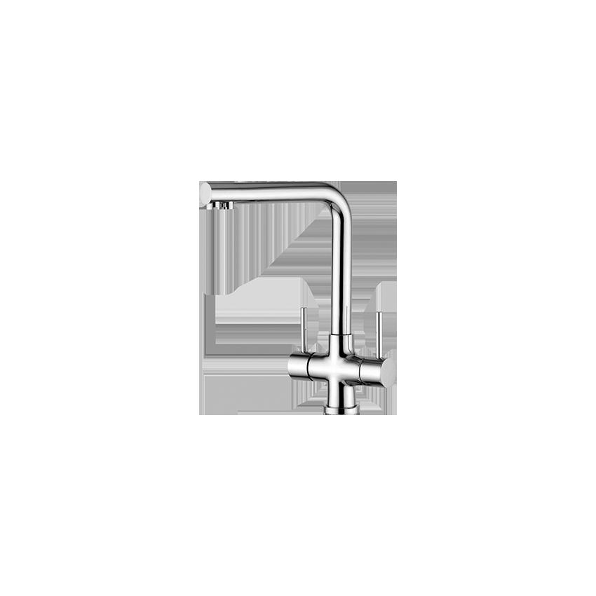 rubinetto lavello cucina tre vie Gaboli Flli