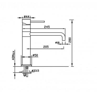 Miscelatore cucina cromo o acciaio inox 4115 Gaboli Flli