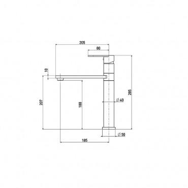 Miscelatore lavello rubinetto cucina moderno 4114 Gaboli Flli