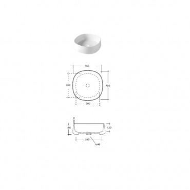 misura lavabo bagno Paddle Olympia Ceramica