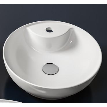 Lavabos sobre encimera con orificio simple Trend 42 de cerámica Olympia