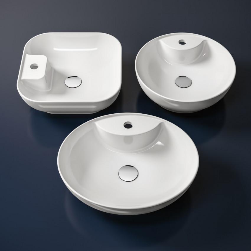 lavabi da appoggio tondi Olympia ceramica Trend 42 monoforo