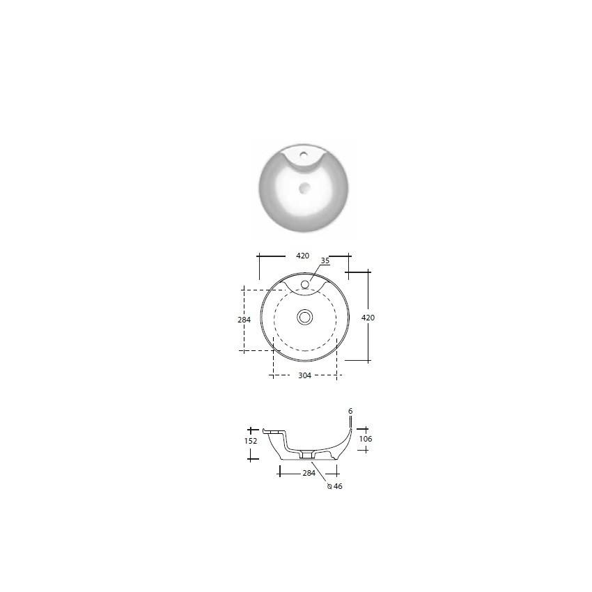 lavabo bagno piccolo misure Olympia ceramica Trend 42 monoforo