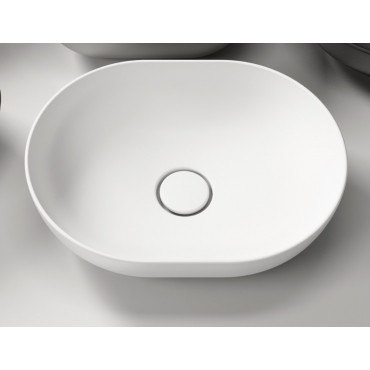 Olympia oval countertop washbasin
