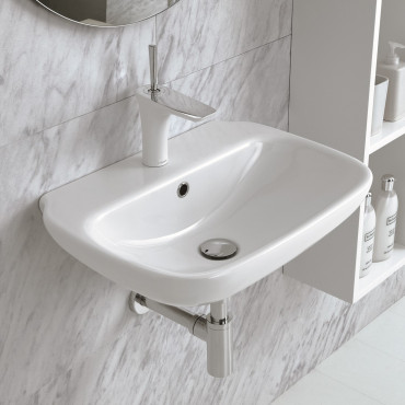 suspended bathroom sinks Clear 45 Olympia Ceramica